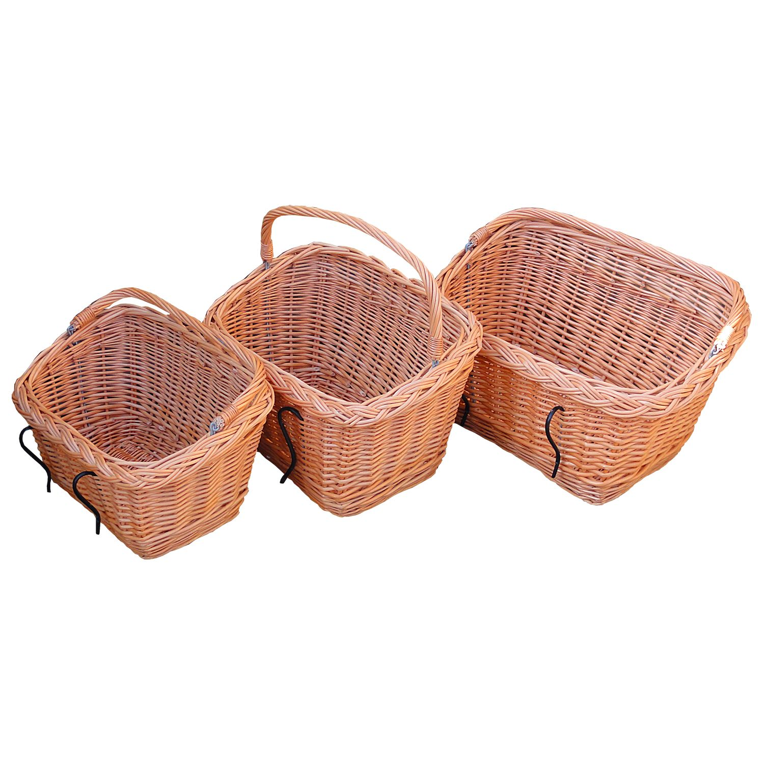 Wicker basket for bicycles